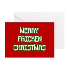 Merry Fricken Christmas Greeting Cards (Pk of 10)