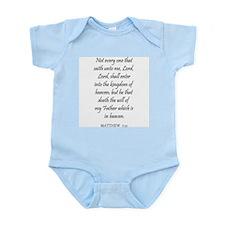 MATTHEW  7:21 Infant Creeper