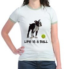 Boston Terrier Life Jr. Ringer T-Shirt