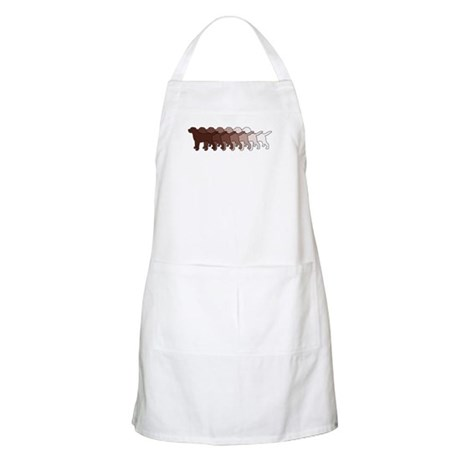 Chocolate Lab Gradient BBQ Apron