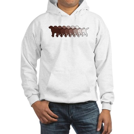 Chocolate Lab Gradient Hooded Sweatshirt