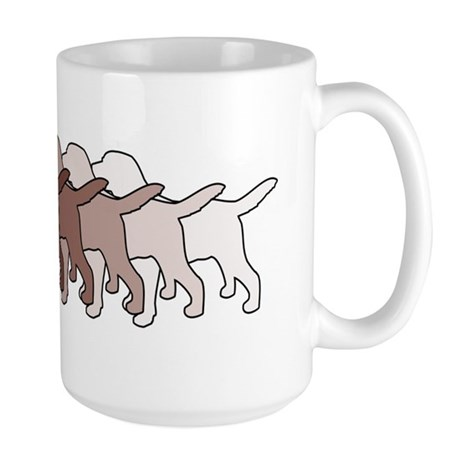 Chocolate Lab Gradient Large Mug