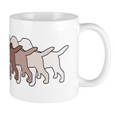 Chocolate Lab Gradient Mug