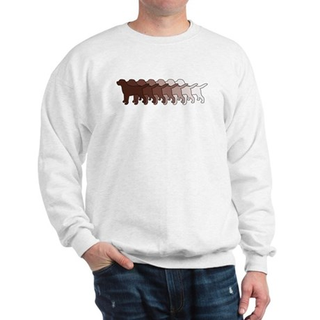 Chocolate Lab Gradient Sweatshirt