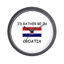 I'd rather be in Croatia Wall Clock