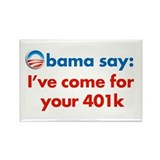 obama 401k Rectangle Magnet
