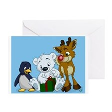 Christmas Cubs Greeting Card