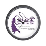 Dance Before The Lord Wall Clock