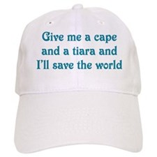 Baseball Cape And Tiara Baseball Cap