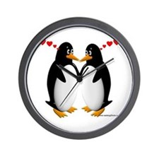 Penguin Lovers Wall Clock