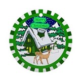 Country Christmas Ornament (Round)