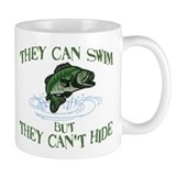 THEY CAN SWIM BUT CAN'T HIDE Small Mugs