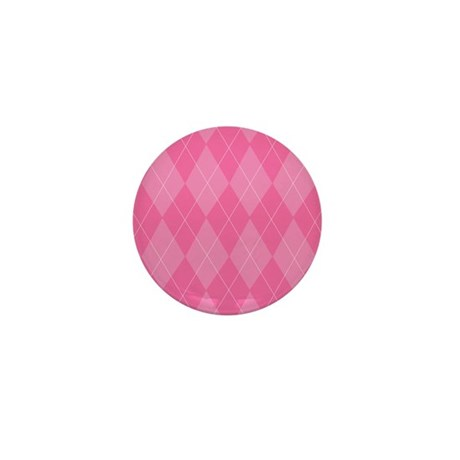 Pink Argyle Mini Button (10 pack)