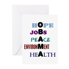 Obama Values Greeting Cards (Pk of 10)
