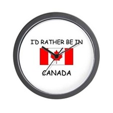 I'd rather be in Canada Wall Clock