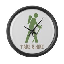 Take a Hike Green Large Wall Clock