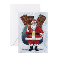 Santa and his Toy Sack Greeting Cards (Pk of 10)
