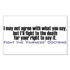 Fight the Fairness Doctrine Rectangle Sticker 10