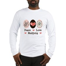 Peace Love Mahjong Long Sleeve T-Shirt