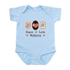 Peace Love Mahjong Infant Bodysuit