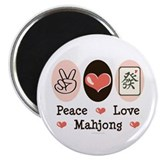 "Peace Love Mahjong 2.25"" Magnet (10 pack)"