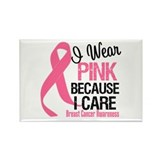 I Wear Pink bc I Care Rectangle Magnet (10 pack)