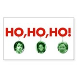 Ho, ho, ho Rectangle Decal