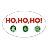 Ho, ho, ho Oval Decal
