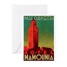 Marrakech Morocco Greeting Cards (Pk of 10)