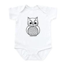 Black and White Owl 1 Infant Bodysuit
