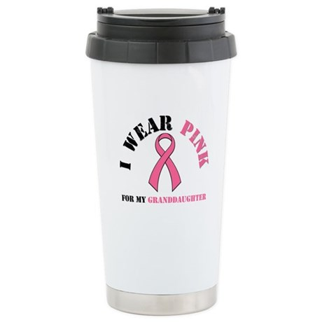 I Wear Pink Ceramic Travel Mug