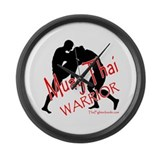 Muay Thai Warrior Large Wall Clock
