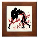 Muay Thai Warrior Framed Tile