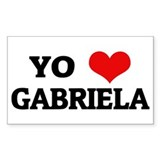 Amo (i love) Gabriela Rectangle Decal