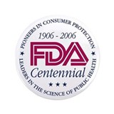 "FDA Centennial - 3.5"" Button"