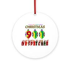 911 Dispatcher Christmas Ornament (Round)
