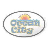 Ocean City, NJ Oval Decal