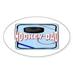 Hockey Dad Oval Sticker