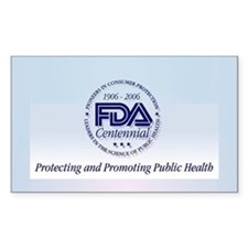 FDA Centennial - Rectangle Sticker 10 pk)