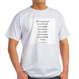 MATTHEW  8:8 Ash Grey T-Shirt