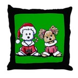 Mr. & Mrs. Santa Paws Throw Pillow