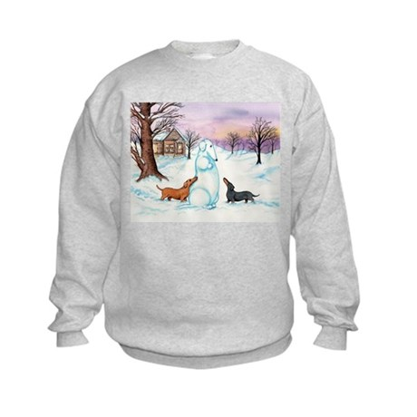 Snow Dachshunds Kids Sweatshirt