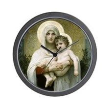 Madonna of the Roses Wall Clock