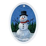 Snowman Oval Ornament