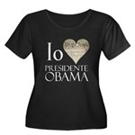 Obama Biden 2008 Women's Plus Size Scoop Neck Dark