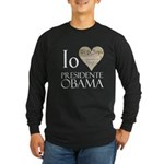 Obama Biden 2008 Long Sleeve Dark T-Shirt
