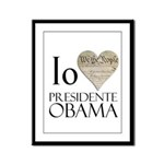 Obama Biden 2008 Framed Panel Print
