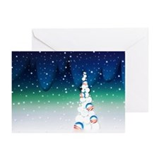 Obama Christmas Tree Greeting Cards (10, Vivid)