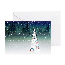 Obama Christmas Tree Greeting Cards (10, Green)