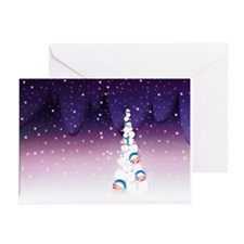 Barack Obama Christmas Greeting Cards (10, Purple)